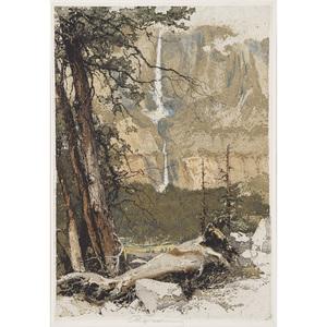 Luigi Kasimir  (Austrian/American, 1881 - 1962) Yosemite Falls
