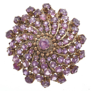 Pink Sapphire, 8k Yellow Gold Pin Pendant