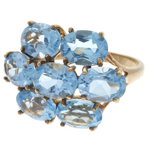 Blue Topaz, 10k Yellow Gold Ring