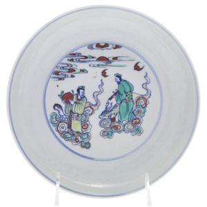 Doucai Enameled Dish, Yongzheng mark