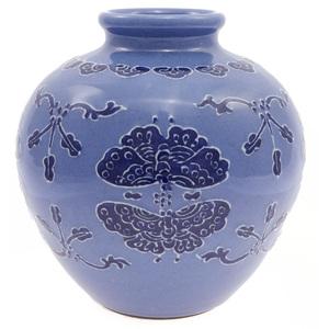 Underglaze Blue Jar, Qing dynasty