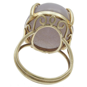 Lavender Jade, 14k Yellow Gold Ring