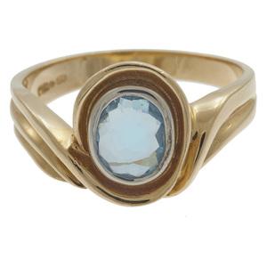 Aquamarine, 14k Yellow Gold Ring