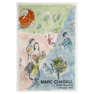 Marc Chagall  (Russian/French 1887 - 1985) Four Seasons Chicago