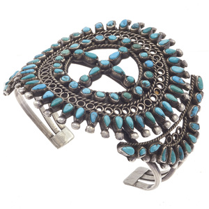 Zuni Turquoise, Sterling Silver Bracelet