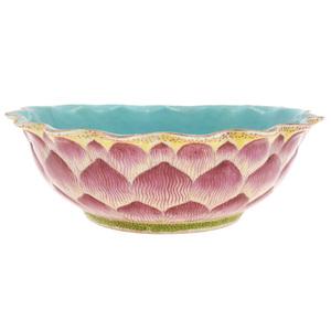 Famille Rose 'Lotus' Bowl, 19th century