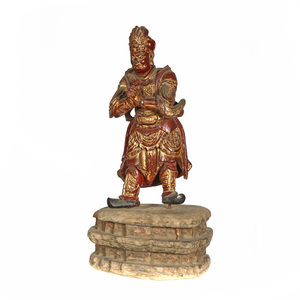 Gilt Lacquer Wood Figure of a Guardian, 17th century