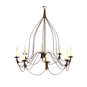 French Country Style Wrought Iron Chandelier