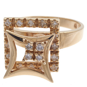 Diamond, 14k Yellow Gold Motion Ring