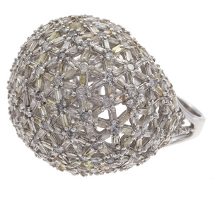 Diamond, 18k White Gold Ring