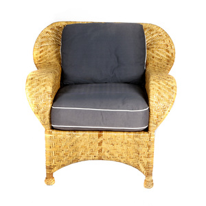 McGuire Woven Rattan Chair