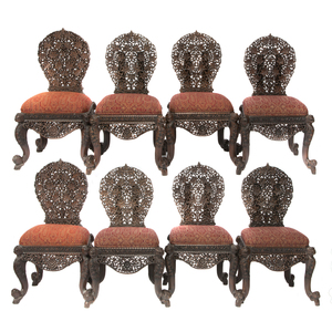 Eight Anglo Indian Chairs
