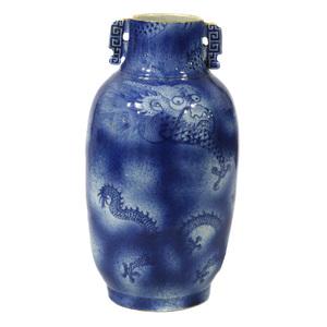 Large Underglaze Blue 'Dragon' Vase, 19th century