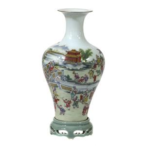 Famille Rose 'Hundred Boys' Vase, 20th century