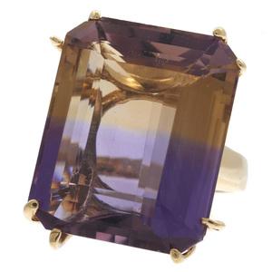 Ametrine, 14k Yellow Gold Ring