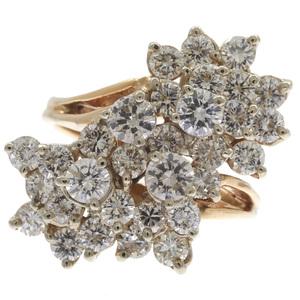 Mid-Century Diamond, 14k Yellow Gold Ring
