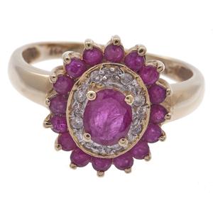 Ruby, Diamond, 14k Yellow Gold Ring