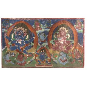 Tibetan Painted Thangka