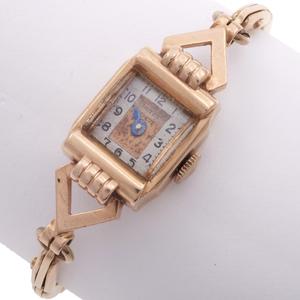 Ladies Retro Driva 14k Rose Gold Watch