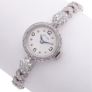 Ladies Hamilton Diamond, Platinum Wristwatch