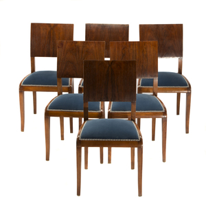Six Art Deco Style Side Chairs