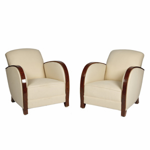 Pair of Art Deco Style Club Chairs