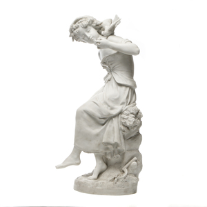 Mathurin Moreau (French, 1822-1912) Marble sculpture