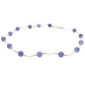 Tanzanite, 14k Yellow Gold Necklace