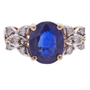 Kyanite, Diamond, 10k Ring