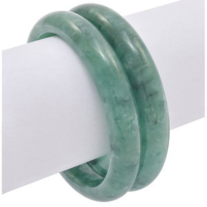 Collection of Two Jadeite Bangle Bracelets