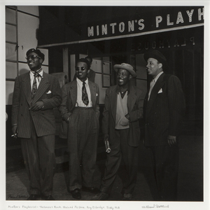William Paul Gottlieb (American, 1917-2006) Portrait of Thelonious Monk, Howard McGhee, Roy Eldridge, and Teddy Hill, Minton's Playhouse