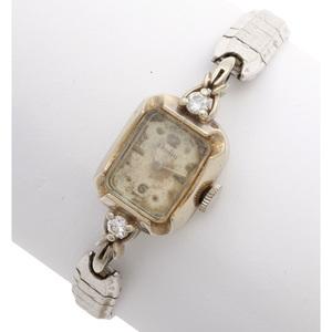Ladies Dorlin Diamond, 14k, Gold Filled Wristwatch