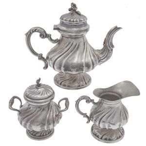 German Rococo .800 Tea Set