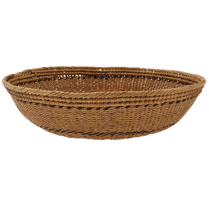 First People Woven and  Coiled Shallow Tray