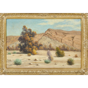 L. Hendrix, Desert Valley with Mountains