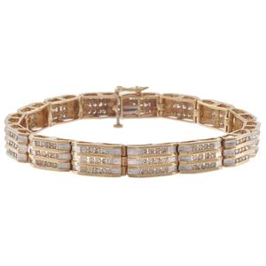 Diamond, 14k Yellow Gold Bracelet