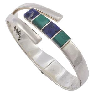 Mexican Malachite, Sodalite, Sterling Silver Bracelet