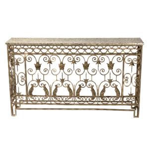 Rococo Style Cast Iron Bar