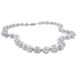 Mikimoto Cultured Pearl, 10k White Gold Necklace