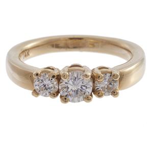 Diamond, 14k Yellow Gold Ring