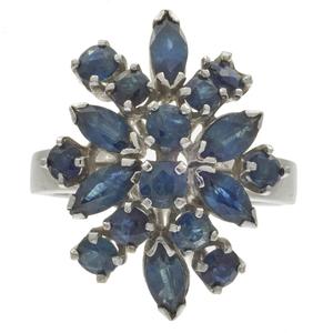 Sapphire, 14k White Gold Ring