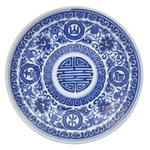 Small Underglaze Blue Dish, 19th Century
