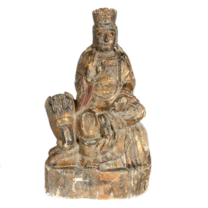 Lacquered Wood Buddhist Figure, Qing dynasty