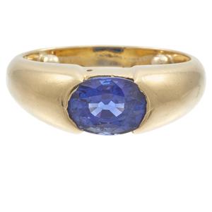 Sapphire, 18k Yellow Gold Ring
