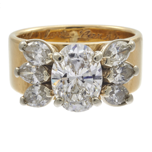 Diamond, 18k Yellow Gold Ring