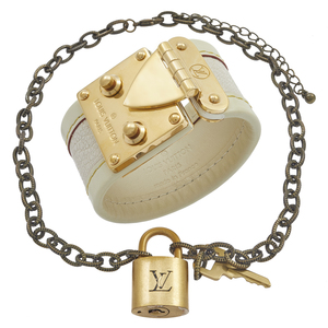 Louis Vuitton Padlock Necklace with Leather