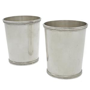Pair of Mark J. Scearce Sterling Julep Cups