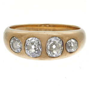 Diamond, 14k Yellow Gold ring