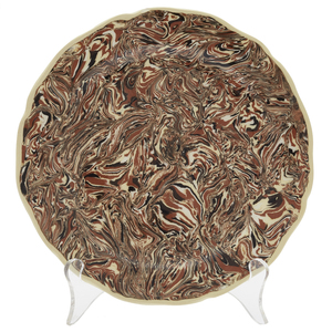 6 Atelier Bernard Brown Marbleized Aptware Plates