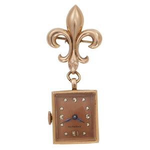 Emerson Retro 14k Rose Gold Lapel Watch